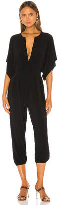 Norma Kamali KAMALIKULTURE Rectangle Jog Jumpsuit in Black $145 thestylecure.com