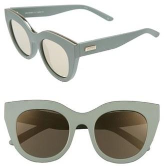 Women's Le Specs Air Heart 51Mm Sunglasses - Matte Olive/ Gold $69 thestylecure.com