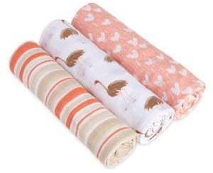 Aden Anais aden + anais Baby's Set of Three Classic Flock Together Swaddles