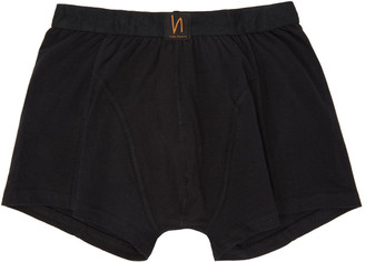 Nudie Jeans Black Solid Boxer Briefs $35 thestylecure.com