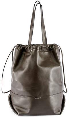 Saint Laurent Harlem Large Leather Bucket Bag