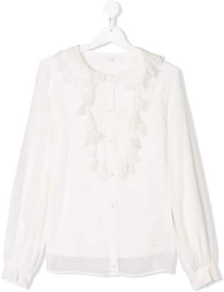 Chloé Kids TEEN scallop trim blouse