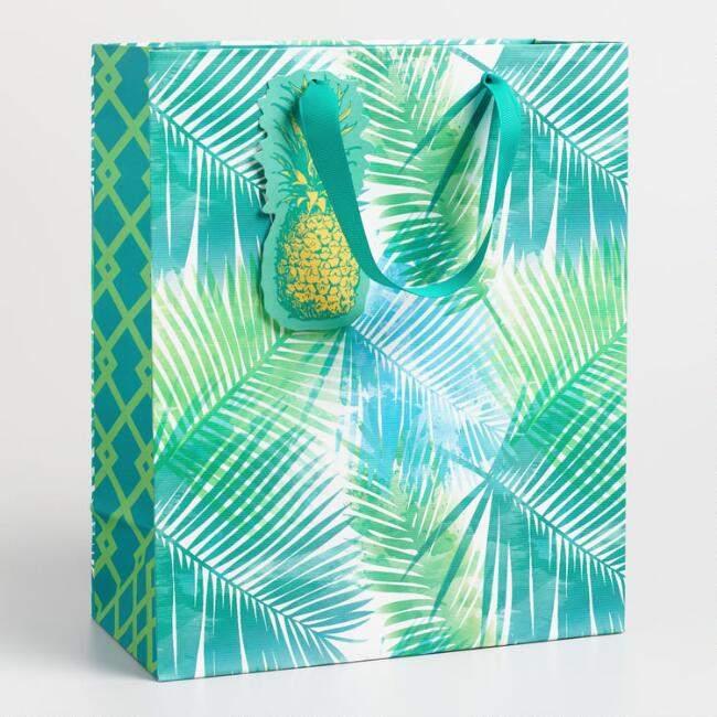 Jungle Pineapple Kraft Gift Bag