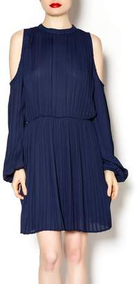 Blaque Label Long Sleeve Pleated Dress