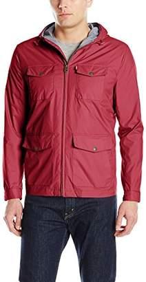 Levi's Men's Four Pocket Hooded Military Rain Jacket