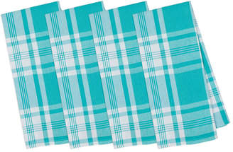 Design Imports Set Of 4 Kitchen Window Plaid Dish Towels