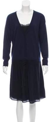 Comptoir des Cotonniers Long Sleeve Knee-Length Dress