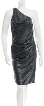 AllSaints One-Shoulder Knee-Length Dress w/ Tags $85 thestylecure.com