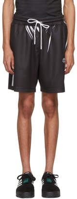 adidas By Alexander Wang by Alexander Wang Black and White Drawcord Shorts