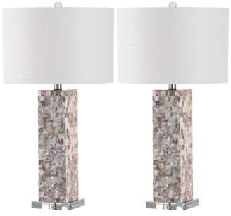 Safavieh Jacoby Table Lamp, Set of 2, White Shade