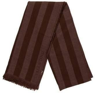 Valentino Stripe Wool Scarf
