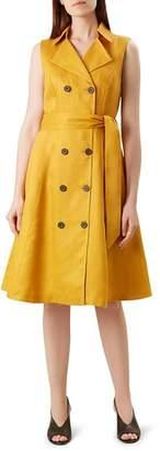 Hobbs London Sabina Linen Trench Dress