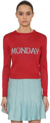 Alberta Ferretti Monday Lurex Knit Sweater