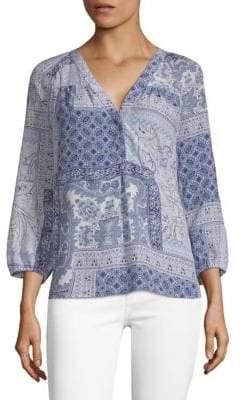Joie Sonoma Printed Silk Blouse