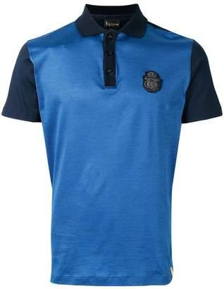 Billionaire logo patch polo shirt