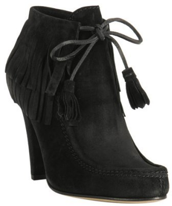 Gucci black suede 'Devendra' tassel ankle boots