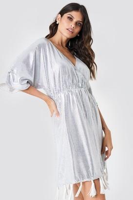 Na Kd Boho Fringe Detail Sequin Dress White