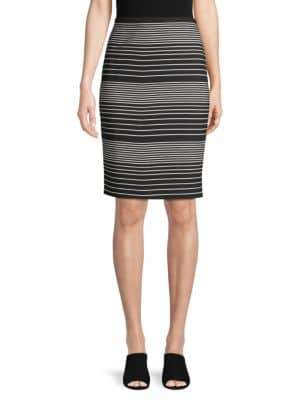 Max Studio Striped Knee-Length Skirt