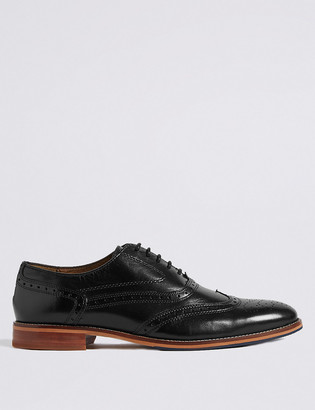 Marks and Spencer Big & Tall Leather Lace-up Brogue Shoes