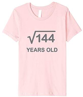 At Amazon 12th Birthday Shirt Square Root Of 144 Math 12 Year Old Gift