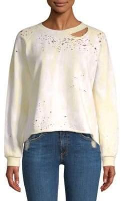 Generation Love Tie-Dye Cut Out Sweatshirt