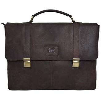 "Leather Laptop Messenger Bag for men -Office Briefcase 14"" Macbook Professional College Mens Womens Side Bags ()..."