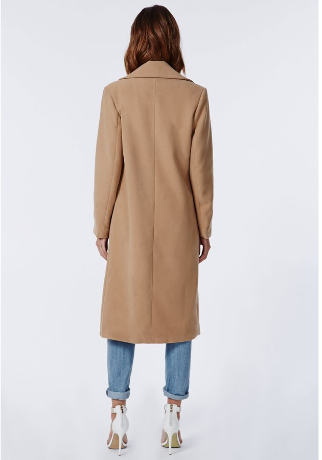 Khloe Oversized Premium Waterfall Coat Camel 4