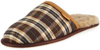 UGG Men's Scuff Plaid Leather Slippers