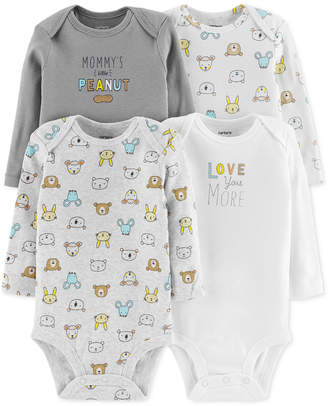 Carter's Baby Boys or Girls 4-Pack Cotton Bodysuits