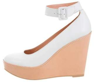 Robert Clergerie Leather Round-Toe Wedges w/ Tags