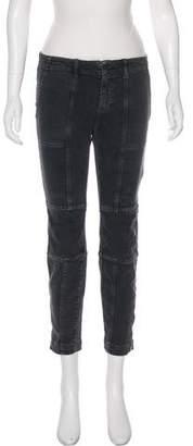 Nili Lotan Distressed Mid-Rise Skinny Jeans