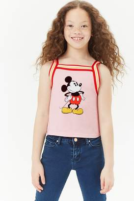 Forever 21 Girls Stripe-Trim Mickey Mouse Tank Top (Girls)