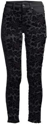 7 For All Mankind Embellished Floral Ankle Skinny Jeans