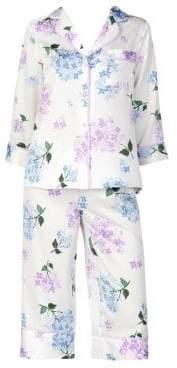 Kate Spade Hydrangea Two-Piece Pajama Set