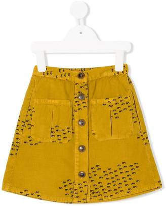 Bobo Choses front fastening A-line skirt
