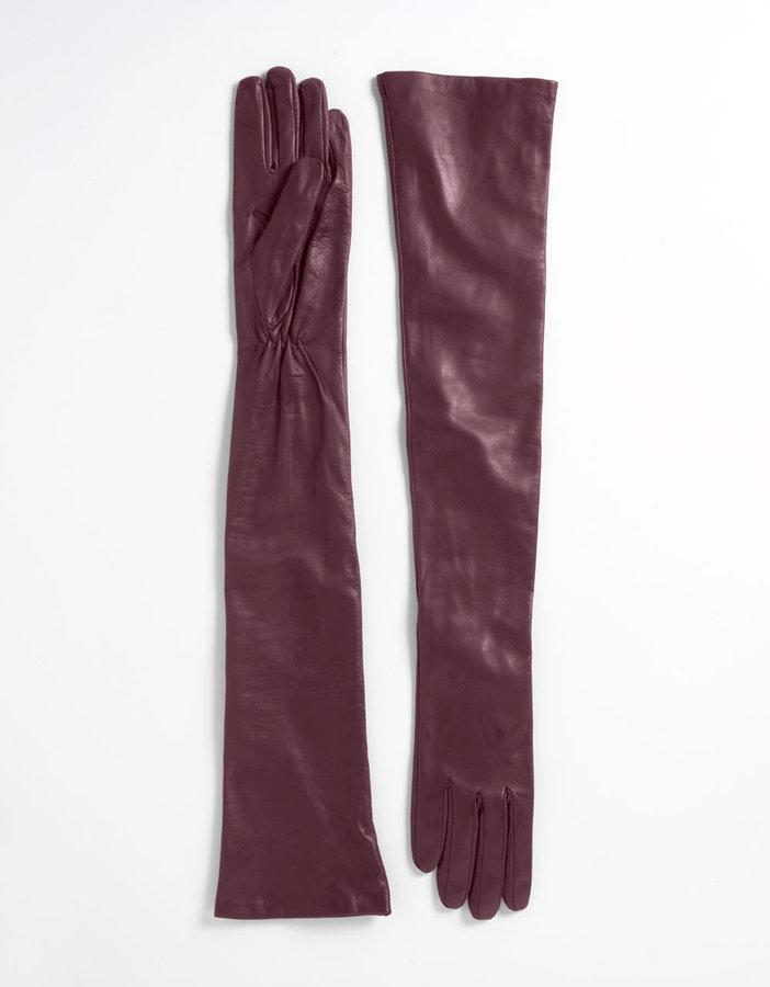 CAROLINA AMATO Opera-Length Leather Gloves