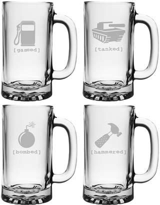 Susquehanna Glass Co. Mr. Tipsy Pub Beer Mugs (Set of 4)