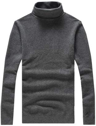 CFD Mens Wool Blend Thermal Turtleneck Pullover Sweaters L