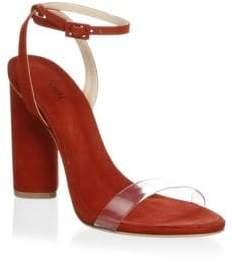 Schutz Geisy Suede Ankle-Strap Sandals