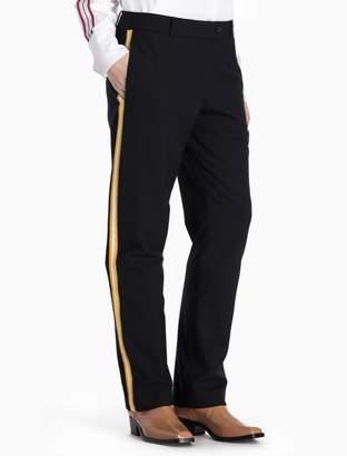 Calvin Klein skinny straight striped pants