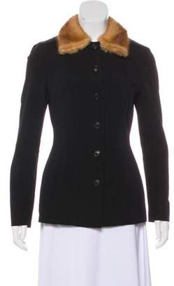 Dolce & Gabbana Collared Long Sleeve Jacket Black Collared Long Sleeve Jacket