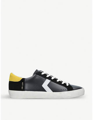 Kurt Geiger London Fairmont mixed-leather low-top trainers
