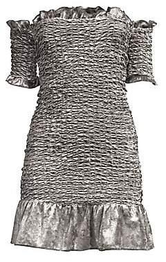 Petersyn Women's Benson Velvet Smocked Dress