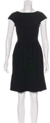 Ralph Lauren Wool Mini Dress Black Wool Mini Dress