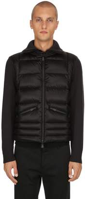 Moncler Wool Tricot & Nylon Down Jacket