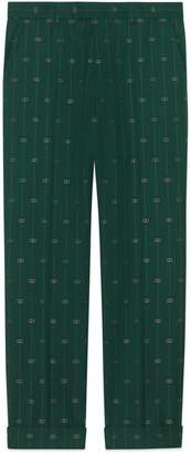 Gucci Interlocking G stripe wool pant