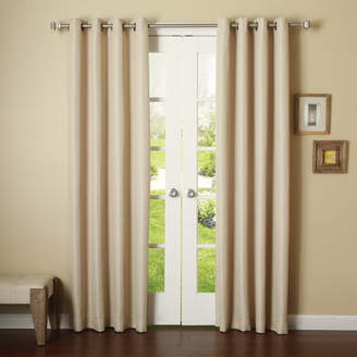 Best Home Fashion Best Home Fashion, Inc. Basketweave Solid Blackout Thermal Grommet Curtain Panels