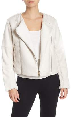 New Balance Revitalize Faux Suede & Faux Shearling Moto Jacket