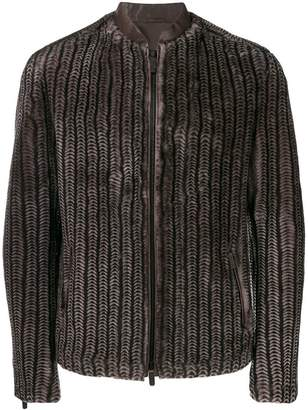 Giorgio Armani textured bomber jacket