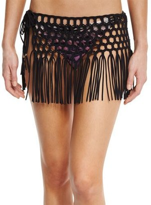 PilyQ Fringe Coverup Skirt $134 thestylecure.com